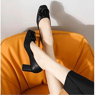 giày cao gót vuông 7cm