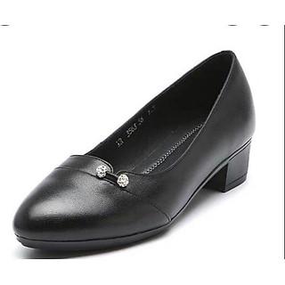 Giày cao gót nữ công sở đế 4p đính ngọc xinh xắn hàng VNXK siêu bền M12