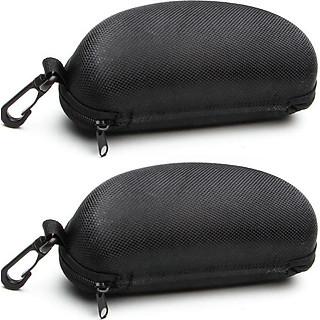 Bộ 2 hộp đựng mắt kính có móc treo - Màu Đen