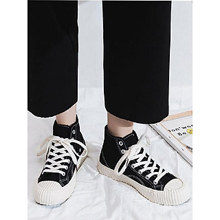 Giày thể thao sneaker nữ cổ lửng LAHstore, chất liệu vải canvas bền đẹp, thời trang trẻ, phong cách Hàn Quốc