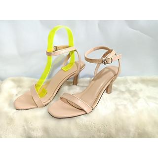 Giày sandals nữ cao gót cao gót  7cm  721 màu kem