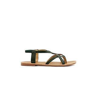 Sandal nữ chiến binh đế bệt, giày sandal xỏ ngón dây quai chéo cực xinh PABNO - PN15001