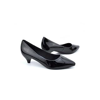 Giày cao gót 4p, giày công sở nữ gót chóp cao cấp cách điệu thương hiệu PABNO -BH 12 Tháng- PN449