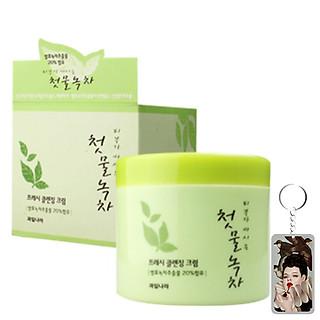 Kem massage thảo dược trà xanh Green tea Massage Cream Hàn Quốc 300ml Tặng Móc khóa