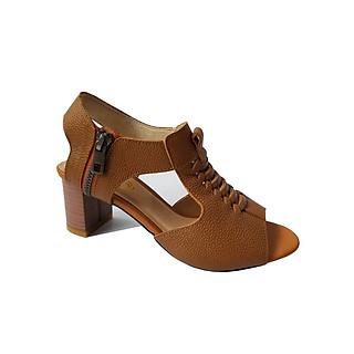 Giày Sandal Cao Gót Da Bò BIGGBEN Cao 5 Phân c