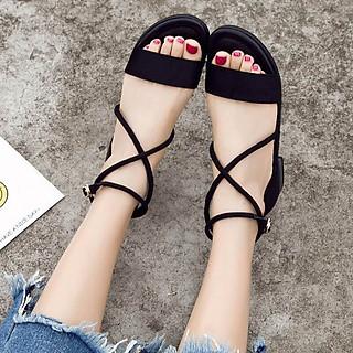 Giày sandal nữ đi học quai hậu nhiều màu, cực bền, đẹp, chắc chắn, dùng cho mùa mưa hoặc mùa hè đều được, đi học hoặc đi chơi mang đều đẹp - SM06