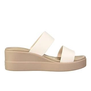 Giày Xăng Đan Nữ Crocs Brooklyn Mid Wedge 206219