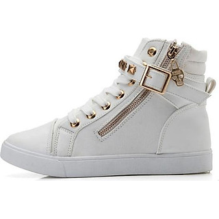 Giày Sneaker nữ cổ cao B002Tr
