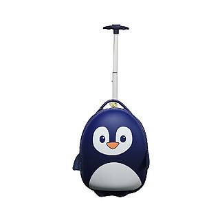 Va li kéo chống xước BB Bag hình chú chim cánh cụt đáng yêu màu xanh