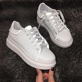 Giày thể thao sneaker trắng nữ phản quang