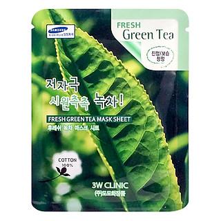 Mặt Nạ Trà Xanh Dưỡng Da 3w Clinic Fresh Greentea Mask Sheet 100% Cotton (23ml)
