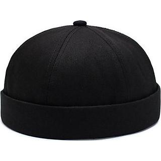 Mũ tròn Miki màu trơn phong cách cổ điển độc đáo – thêu chữ kiểu dáng đơn giản