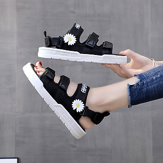 Sandal nữ hoa cúc quai ngang mới 003