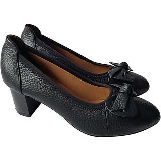 Giày Cao Gót Nữ Công Sở Da Bò BIGGBEN GCG4