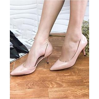 Giày cao gót khoét eo da mềm