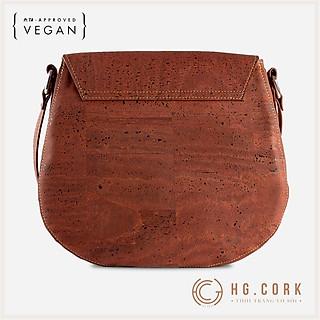 Túi Đeo Chéo Nữ Cao Cấp - SADDLE BAG - HGcork Corkor CK246 - Vật liệu da cork thực vật thuần chay - Sản phẩm Handmade, Sản xuất tại Bồ Đào Nha