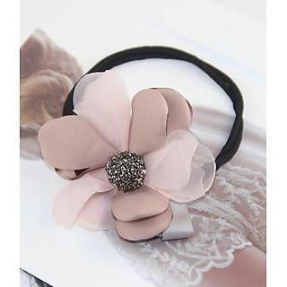 Dây hoa tạo hình búi tóc nhụy đính đá dễ thương mẫu 4