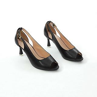 Giày Cao Gót Hở Mũi 7cm Gót Nhọn Hở Eo Pixie X556
