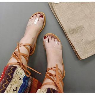 Giày sandal Quai Trong Cột Dây TAS53