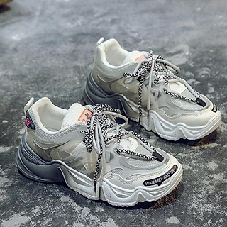 Giày Sneaker Tăng Chiều Cao Nữ Phối Màu Lê Sang