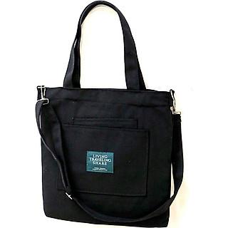 Túi nữ bản to đeo vai.chất liệu vải bố dể giặc sạch,để được giấy A4 và nhiều sách vở học-0350
