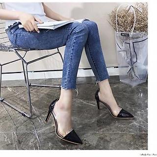 [GC77] Giày cao gót nữ công sở gót nhọn phối mica xinh xắn
