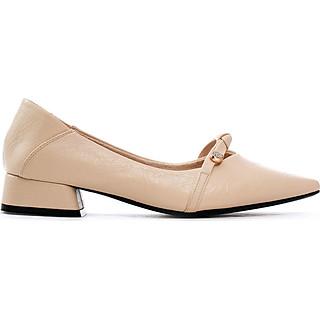 Giày búp bê nữ, chiều cao gót 3CM, da Microfiber nhập khẩu cao cấp êm ái, bền chắc và thời trang. Mũi nhọn, gót vuông  vững trãi bọc da đồng màu sang trọng và chắc chắn, thiết kế hiện đại, tinh tế, thời trang: BB.P20001.3F