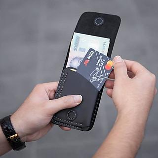 Ví sen 3, da bò thật, ví mini cầm tay cho nam và nữ đựng tiền và thẻ, bh 24 tháng 1 đổi 1, VSN19