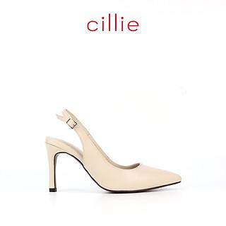Giày cao gót nữ slingback mũi nhọn cao 9cm 1234