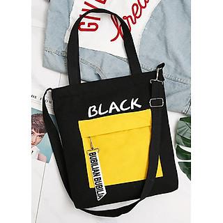 Túi đeo chéo vải canvas LAHstore, túi vải nữ TV11, phong cách Hàn Quốc, thời trang trẻ