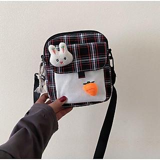 Túi đeo chéo vải canvas dễ thương