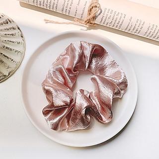 Cột Tóc Vải Scrunchies, Dây Buộc Tóc Scrunchies Nhiều Màu Hàn Quốc SC03 cực kì xinh xắn