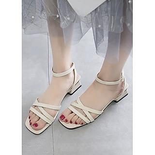 Giày Sandal Nữ Quai Chéo cao 3cm