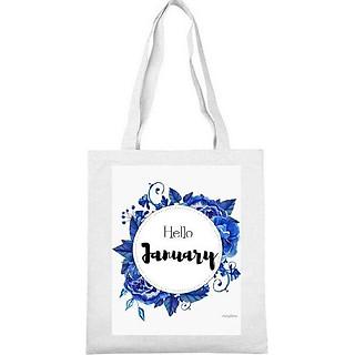 Túi tote túi xách đi học đi chơi tiện lợi theo tháng sinh  - tháng 1