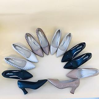 [ Shop giày somina ] Giày VIP gót trụ thon cao 5cm MT006
