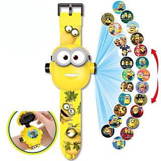 Đồng hồ điện tử đeo tay chiếu 24 hình 3D chú Minions đáng yêu
