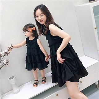 combo đầm mẹ và bé baby doll dể mặc