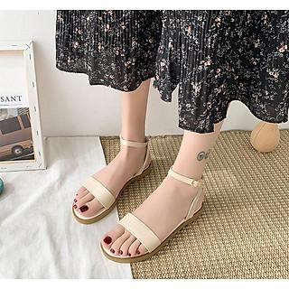Giày sandal nữ quai ngang thời thượng cao cấp, đi siêu bền kiểu dáng cổ điển SN01