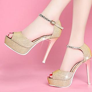 Giày cao gót cao cấp quai đá Korea - CG536