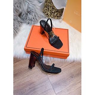 Giày sandal cao gót quai trong , gót trong 7 cm, giày cao cấp