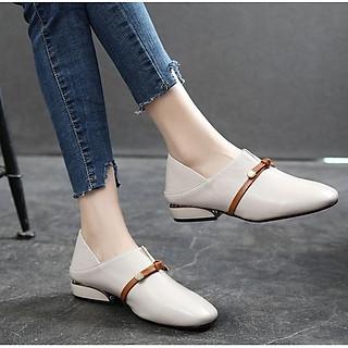 Giày loafer dây nâu đế thấp S306