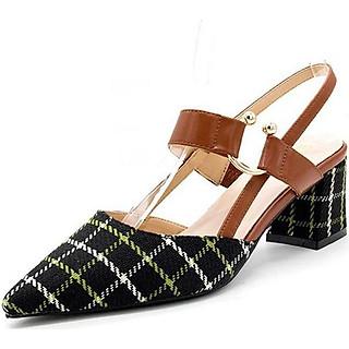 Giày cao gót đế vuông 9600102