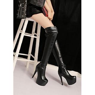 Boot đùi gót nhọn cao 15cm màu đen THỜI THƯỢNG GCC2601