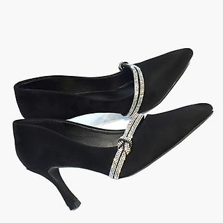 Giày cao gót nữ thời trang tôn dáng đẹp, gót nhọn với quai ngang cách điệu