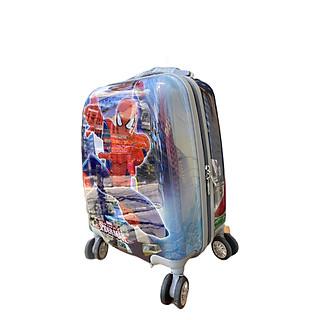valy kéo nhựa in hình siêu nhân nhện cho bé trai