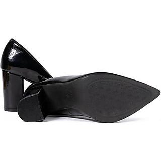 Giày cao gót nữ mũi bít đồng cao 7p QHK1911 cao cấp da bóng - Chính hãng Kaleea