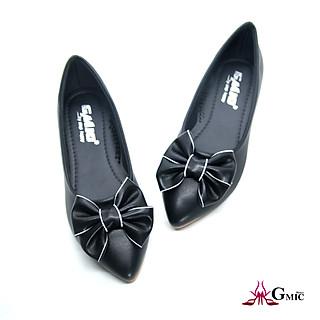 [ BIG SIZE ] Giày Bệt Nữ Đính Nơ Viền Dể Thương   Giày Búp Bê Nữ Cao Cấp Êm Chân NBB003