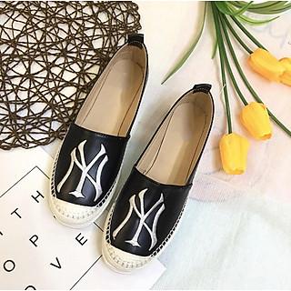 Giày lười slip on nữ  bọc cói vintage thời trang GL10