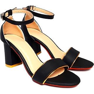 Giày cao gót đế vuông thời trang T263K335 - Đen