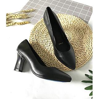 Giày cao gót nữ LUCACY đế cao 7cm da bò cao cấp 7PTGK